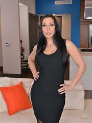 Rachel Starr takes it on the sofa in a..