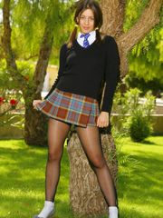 Stocking schoolgirl Stockings-Nylons..