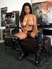 dark-hued lady Sheryse stripping and..