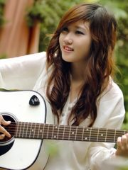 Smile guitar girl, music, japanese..