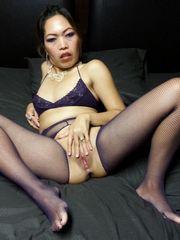 Long legged mature dolls in stocking..