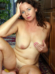 Mature Candy frolicking her fur covered..