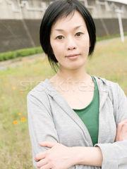 fitness mature Japanese dame stock..