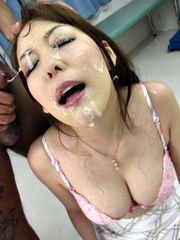 Asian girl spunked on - Quality..