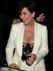 Kris Jenner flashes off her forms in a..