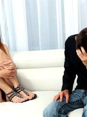 Blinded ultra-cute teenage gagged,..