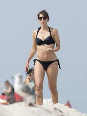 SAMANTHA CAMERON in Swimsuit at a Beach..