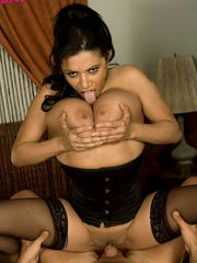 Black-haired escort Alexis Silver..