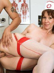 Beddable mature nurse accepts anal..