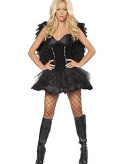 Devilish Dark Angel Costume - Halloween..