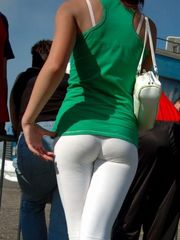 Voyeuy Jpg Candid milky trousers (tight..