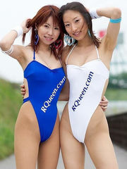 Super-sexy Race Goddesses In Milky One..