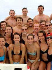 Sweet Sarah and mates in bikini