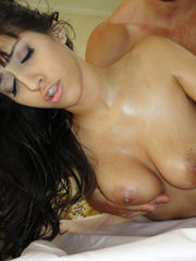 Sexy greased April boinked at..