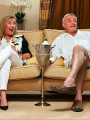 Gogglebox' starlets Steph and Dom..