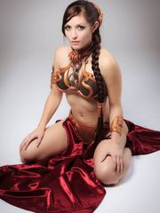 Sub Leia. Gold resin lumps of costume..