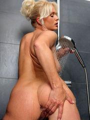 Platinum-blonde Cougar Marlene..