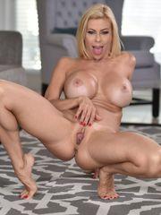 Alexis Fawx bige faux boobs and vulva