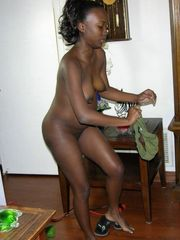 My ebony ex gf with tiny mounds posing..