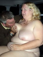 Car porno  with nasty mature dame
