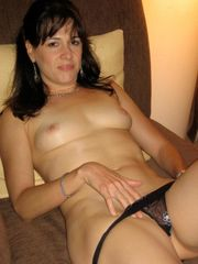 Brown-haired cougar wifey naked  - Hot..