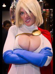 Powergirl cosplay, Wonder Con 2013,..