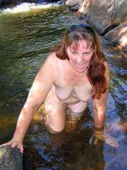 42 yo woman posing nude in the village..