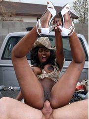 Big-titted ebony cowgirls which gone..