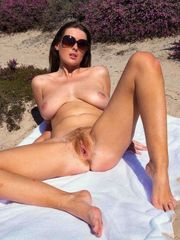 Mature naturist Beach photos