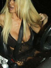 Shauna Sand nipple glide in car and..