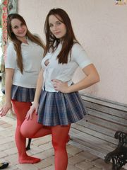 Angelica and Britney in their student..