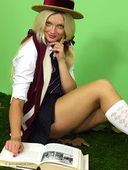 Juicy light-haired schoolgirl Zuziana..