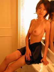 Titted Asian girlfriend with big..