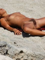 Jaw-dropping femmes nudist on the..