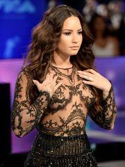 Demi Lovato Bare-chested  - Steamy..