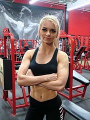 Young lady muscly girl posted her..