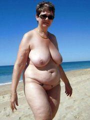 Czech mature dame with big inborn boobs..