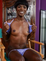Charming ebony hottie Ana Foxxx..
