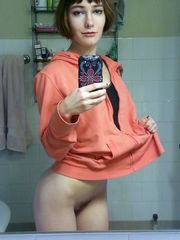 I ask this girl, where are your pants?..