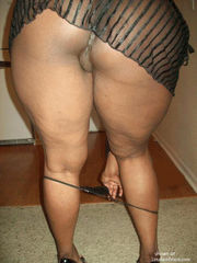 Muscled ebony damsel with a intense..
