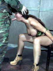 Held gal is coerced to suck rod by a..