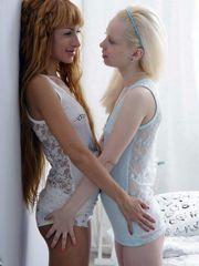 Swarthy beauty and tender white-skinned..