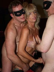 British gang-bang soiree in a swaying..