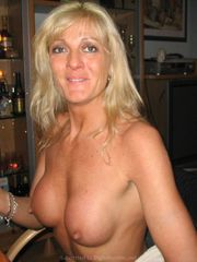Bare Blondie Cougar with faux silicone..