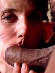 Granny slut gets muddy facial after..