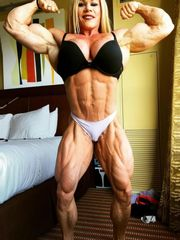 luxurious lady with muscle  and muscle..