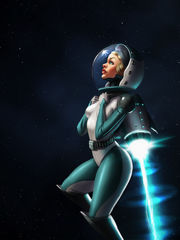 ArtStation - Vintage Space Girl, Miha..