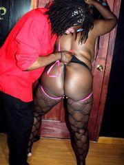 Obese dark-hued wifey Mizz Kimmie in..