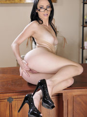 Veronica Radke takes off down and..