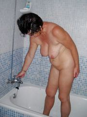 Plump nude grandmothers posing in the..
